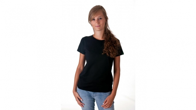 T-shirt dames V-hals Bio & FT